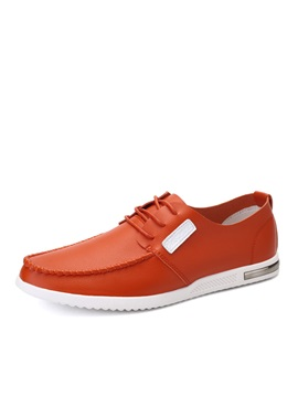 Pu Thread Tie Up Casual Shoes