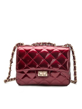 Plaid Pattern Embossing Pure Color Womens Crossbody Bag
