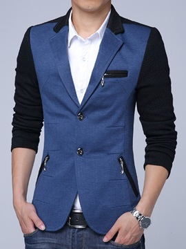 Color Block Multi Zip Vogue Slim Mens Blazer