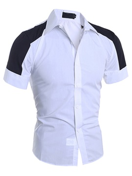 Two Tone Slim Fit Mens Casual Shirt