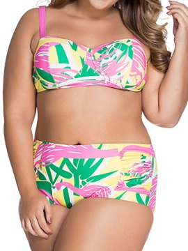 Womens Plus Size Two Piece Bikini Swimwear
