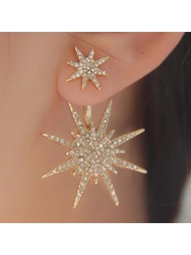 Shining Snow Shaped Diamante Earrings