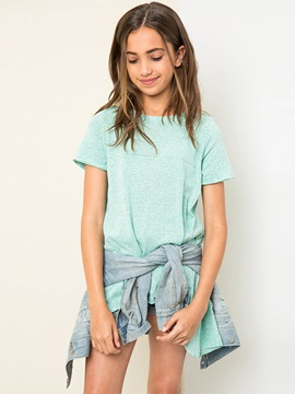 Asymmetric Pinstriped Girl's T-Shirt