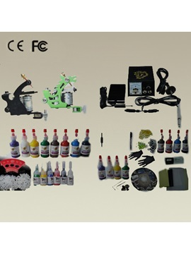 2 Tattoo Guns With Lcd Power Supply Tattoo Kit For Starters