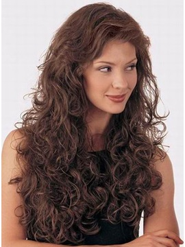 100 Human Hair Curly Front Lace Wig About 22 Inches