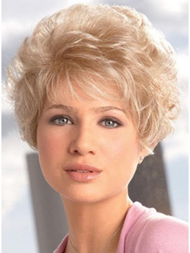 Hot Sale Noble Short Curly Capless Synthetic Hair Wig 6inches