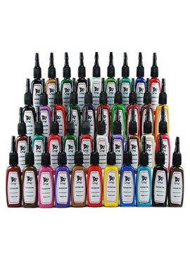 Delicate 40 Colors Tattoo Inks For Tattoo Fans