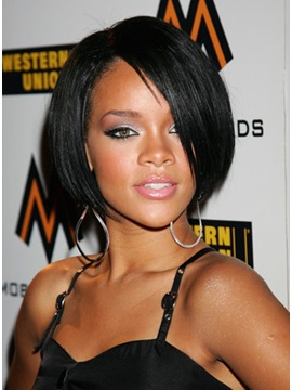 Custom Celebrity Hairstyle Short Straight Lace Front Wig About 11 Inches