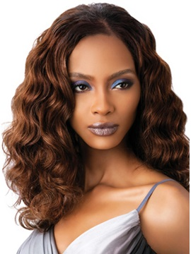 Top Quality Hand Tied Graceful Curly Lace Wig About 16 Inches
