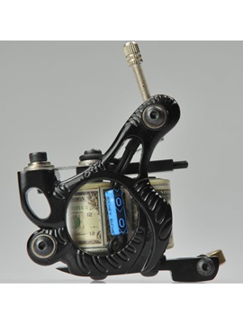 Dollar Patterned Top Quality Cast Iron Tattoo Machine For Shader And Liner