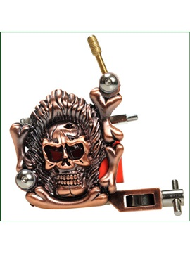 Delicate Skull Empaistic Tattoo Machine For Liner And Shader