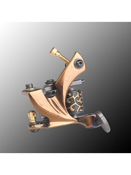 Plated Custom Unique Luos Damascus Copper Tattoo Machine For Shader