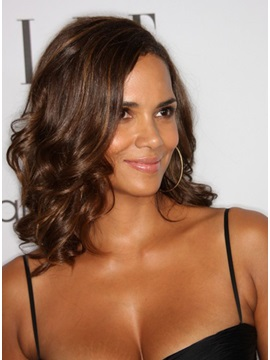 Custom Halle Berry Hairstyle 100 Human Hair Curly Lace Wig About 14 Inches