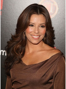 Custom Eva Longoria Hairstyle Curly Lace Wig 20 Inches