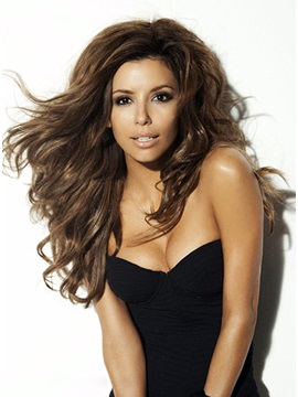 Custom Eva Longoria Hairstyle Wavy Lace Wig Hand Tied 100 Human Hair About 22 Inches