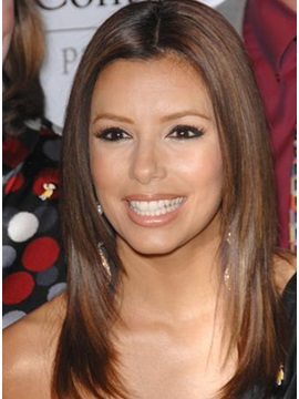 Custom Eva Longoria Hairstyle Long Straight Lace Front Wig 16 Inches
