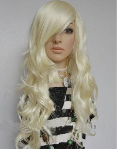 Popular Long Curly Capless Synthetic Hair Wig 28inches