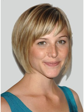 Cool Short Straight Synthetic Hair Wig 10 Inches