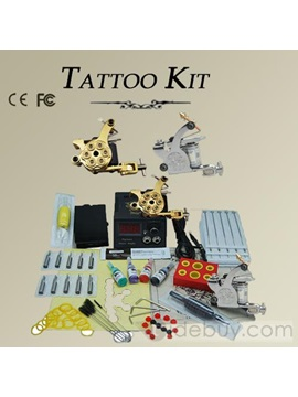 Delicate 2 Machines Tattoo Kit Inks Power Grips Tips 50 Needles