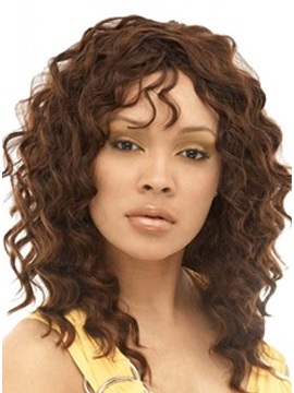 Custom Hand Tied 100 Human Hair Curly Lace Front Wig About 18 Inches