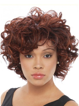 Custom Hand Tied Short Curly Lace Front Wig 11 Inches