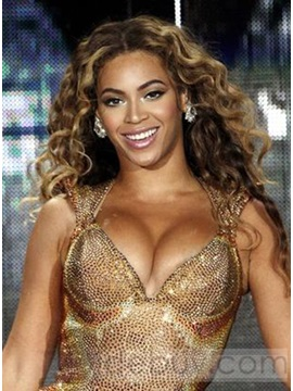 Custom 100 Human Hair Beyonce Hairstyle Wavy Full Lace Wig 22 Inches