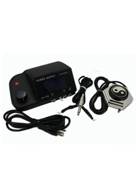 Great Quality Top Digital Powerful Dual Tattoo Power Supply Kit With Footswitch And Clipcord