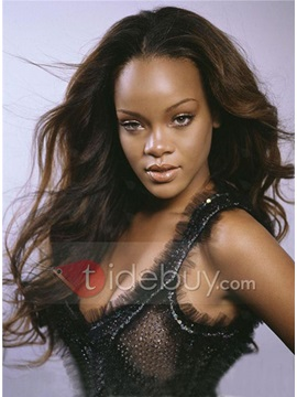 Fabulous Style Custom Rihanna Style Straight Natural Lace Wig 100 Human About 22 Inches