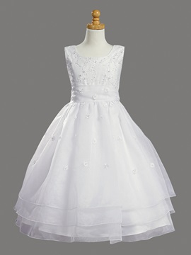 New Charming Ball Gown Tea Length Flower Girl Dress