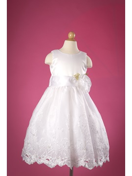 Excellent A Line Princess Embroidered Flower Girl Dress