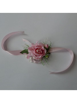Rose Silk Cloth Wedding Wrist Corsage