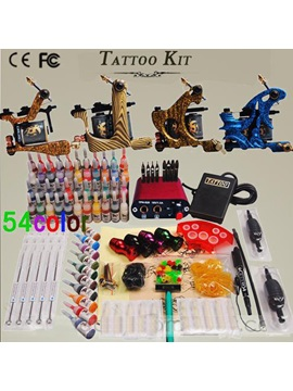 Pro Tattoo Kit With 4 Pcs New Design Top Professional Tattoo Machines And Mini Power Pack