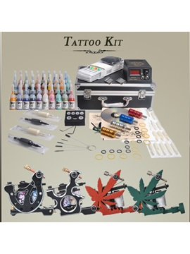 4 Top Tattoo Machines Kit With Lcd Power And 40 Color Inks For Artists Diy 115