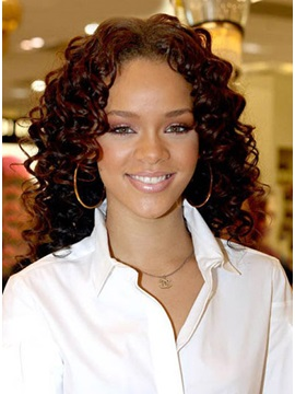 Custom Rihanna Hairstyle Curly Lace Front Natural Sexy Perfect Wig About 16inches