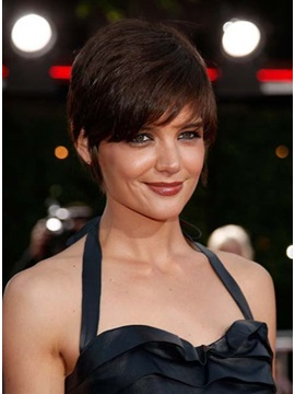 Custom 100 Human Remy Hair Katie Holmes Hairstyle Wig About 8inches