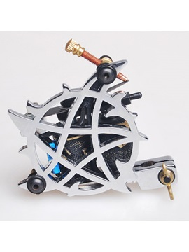 High Quality Stainless Tattoo Machine With Five Pointed Star For Liner And Shader