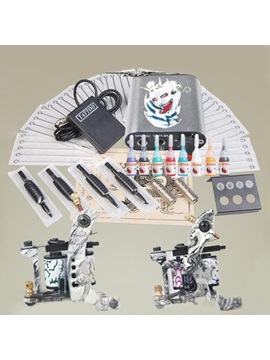 Tattoo Starter Kit With 2 Machine Guns Power Supply Needles Grips Kit Diy 160