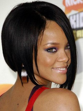 Custom Rihanna Fashionable Hairstyle Straight Lace Wig About 10inches