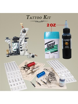 New Tattoo Kit Complete Set With 1 Top Quality Gun And Needles