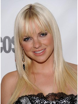 Anna Faris Amazing Straight Hair Style Long Straight Ash Perfect Natural Wig About 18inches
