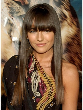 Attractive Celebrity Hair Style Long Straight Shining Perfect Wig About 18inches
