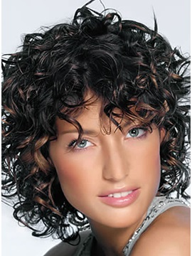 African American Popular Hairstyle Medium Curly Perfect Wig About 10 Inches