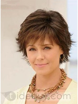 Custom Exquisite Womens Hairstyle Short Straight About 6 Inches 100 Human Hair Wig