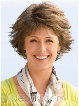 Custom Short Wavy 100 Human Hair Wig About 6inches