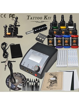 1 Top Handmade Gun Tattoo Kit With Power Supplies And Inks For Starter