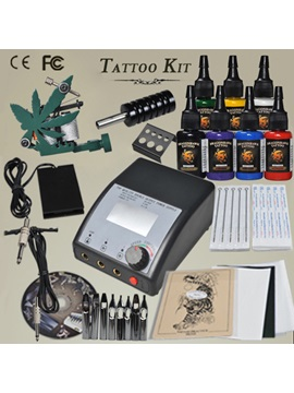 High Quality Maple Leaf Frame Machine Tattoo Kit With Lcd Power Supplies