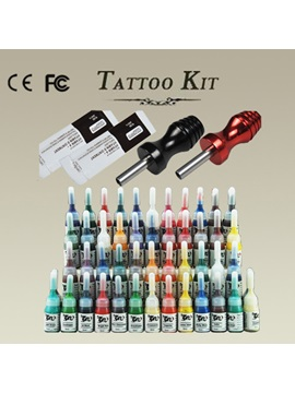 High Quality Tattoo Kit With 2 Alloy Grips 54 Inks And 2 Ointment