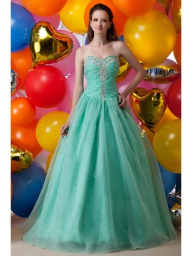 Graceful A Line Floor Length Appliques Sequins Lace Up Maria Anastasias Quinceanera Dress