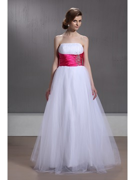 Hot Selling A Line Empire Waistline Strapless Beading Marias Quinceanera Dress