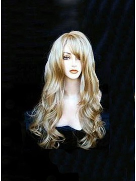 Super Natural New Stylish Long Curly Synthetic Hair Wig 22 Inches